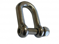 D-Shackles with sunk head allen bolt and counter nut