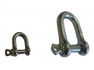 D-Shackle with pin bolt