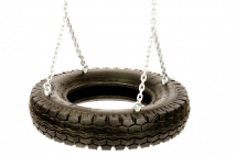 Car tire swing seats