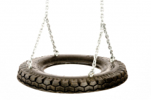 Car tire swing seat