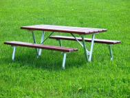 Picnic bench with table